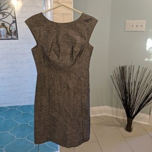 Gray and white linen blend BR A-line dress